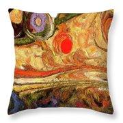 Desert Blossoms Throw Pillow