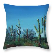 Desert Blue Throw Pillow