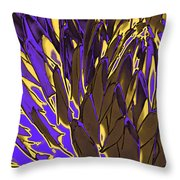 Desert Botanical 3 In Brown Throw Pillow
