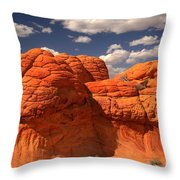 Desert Brain Rocks Throw Pillow