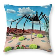 Desert Bug Throw Pillow by Snake Jagger