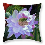 Desert Cactus Flower Throw Pillow