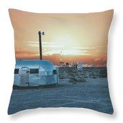 Desert Caravan Throw Pillow