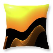Desert Caravan Throw Pillow