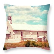 Desert Chapel Throw Pillow