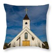 Desert Church Throw Pillow