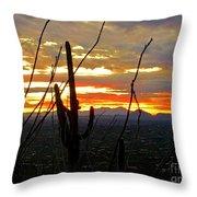 Desert City Sunset Throw Pillow