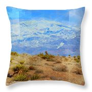 Desert Contrasts Throw Pillow by Michelle Dallocchio
