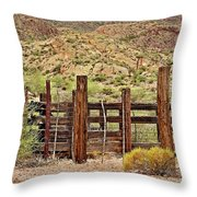 Desert Corral Throw Pillow