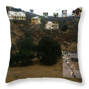 Desert Cottages Throw Pillow