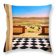 Desert Dreamscape Throw Pillow