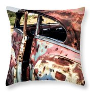 Desert Drive Throw Pillow