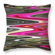 Desert Flowers Abstract Throw Pillow