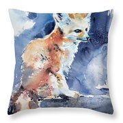Desert Fox Throw Pillow