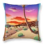 Desert Gazebo Throw Pillow