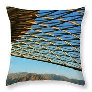 Desert Grid Throw Pillow