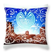 Desert Hallucinogens Throw Pillow