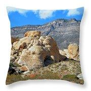 Desert Hikers Throw Pillow