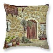 Desert House Throw Pillow