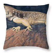 Desert Iguana Mural Throw Pillow