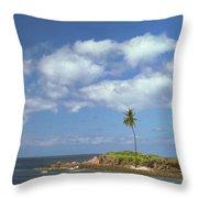 Desert Island Throw Pillow