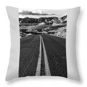 Desert Journey B/w Throw Pillow