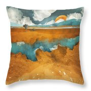 Desert Lake Throw Pillow