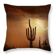 Desert Landscape Southwest Throw Pillow