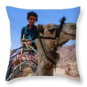 Desert Locomotion Throw Pillow