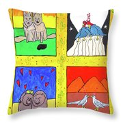 Desert Love Throw Pillow