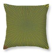 Desert Marigold Flowers Abstract #2 Throw Pillow