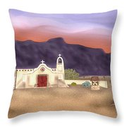 Desert Mission Throw Pillow