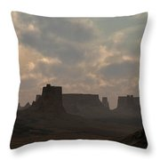 Desert Morning Throw Pillow