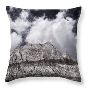 Desert Mountain Showing Iron Oxide Stripe Throw Pillow