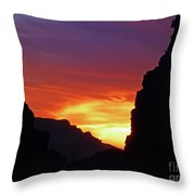 Desert Mountain Sunset Throw Pillow