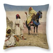 Desert Nomads Throw Pillow