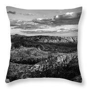 Desert Overlook #2 Bw Throw Pillow