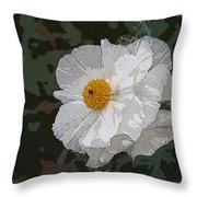 Desert Poppies Throw Pillow