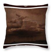 Desert Rain Throw Pillow