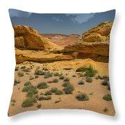 Desert Sandstone Cliffs Valley Of Fire Throw Pillow