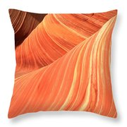 Desert Sandstone Waves Throw Pillow