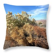 Desert Scrub Throw Pillow