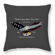 Desert Storm 25th Anniversary Throw Pillow