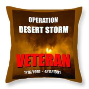 Desert Storm Vet Phone Case Work Throw Pillow