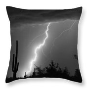 Desert Striking In Black And White Throw Pillow