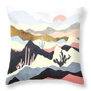 Desert Summer Throw Pillow