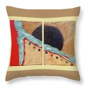 Desert Sun I Throw Pillow