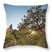 Desert Sunburst Throw Pillow