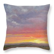Desert Sundown Throw Pillow