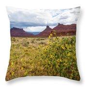 Desert Sunflowers Throw Pillow